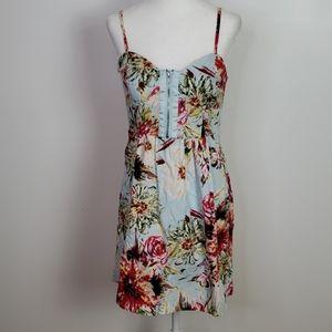 Alyn Paige Tropical Print Mini Dress Size 7/8